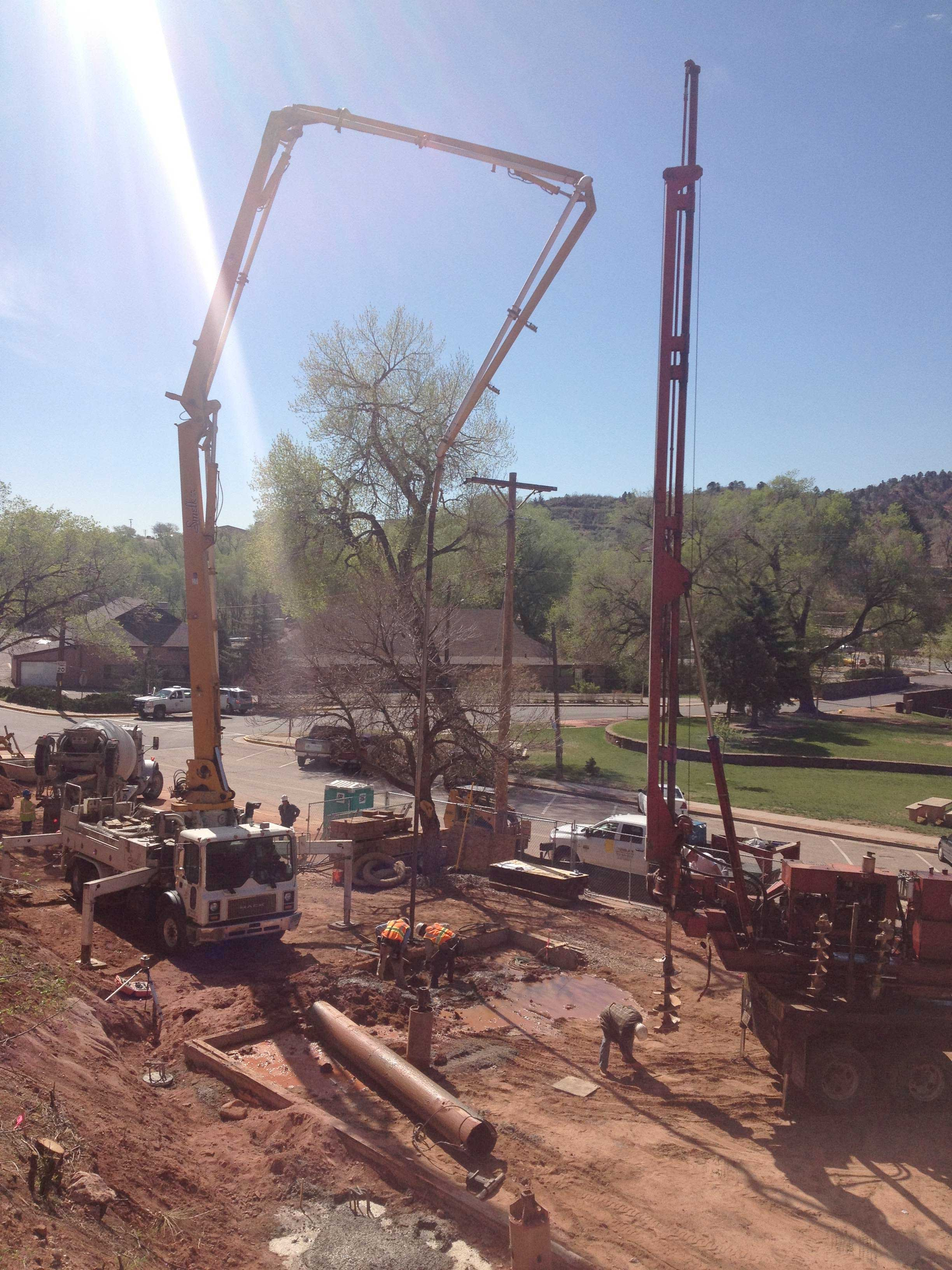 caisson drilling this week at sunwater